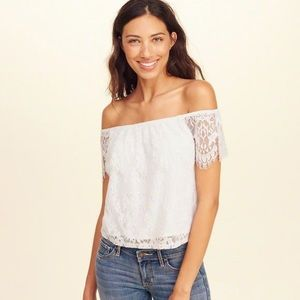 Hollister Lace Off The Shoulder Top